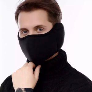 Unisex Black Earmuff Mask